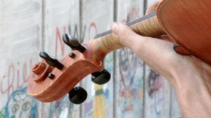 The viola and the wall