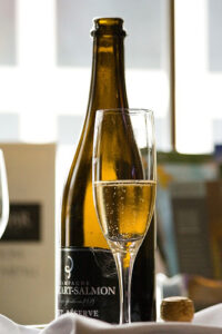 champagne met glas