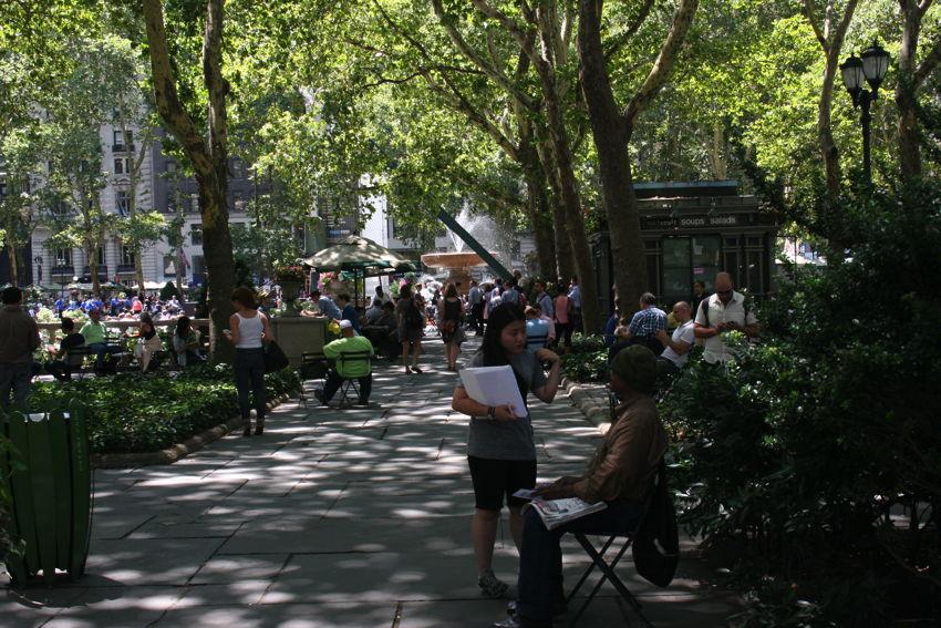 Bryant Park, mooi stadspark in New York