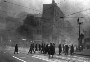 Smog in Pittsburgh, omstreeks 1950