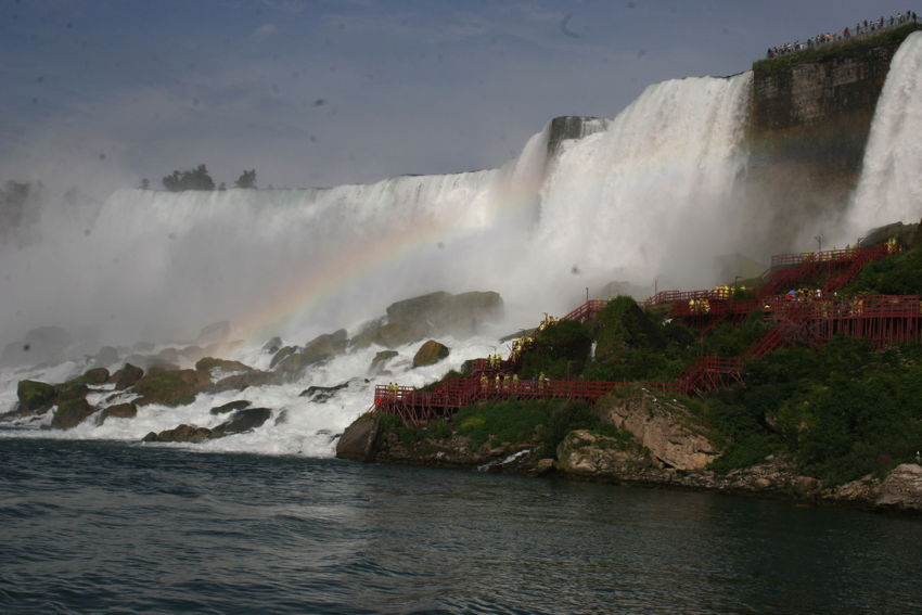 Niagara Falls met regenboog