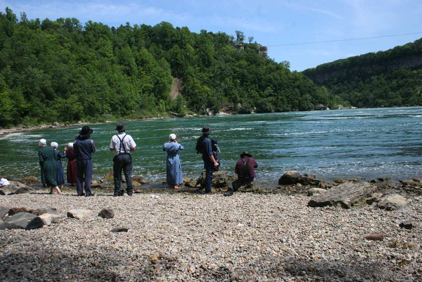 Korte ontmoeting met Amish bij de Whirlpool, Niagara River