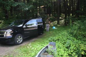 Parkeren voor een picknick in Allegheny National Park