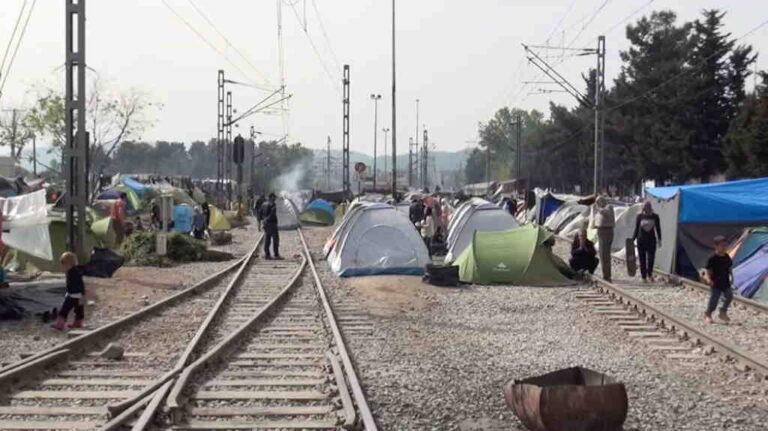 vluchtelingenkamp Idomeni in Griekenland