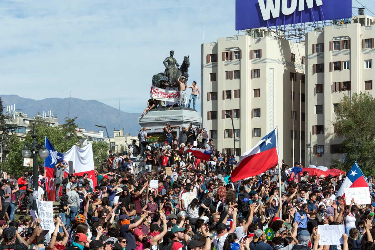 Bruto binnenlands product en economische groei zijn ook in Chili aanleiding tot protest.
